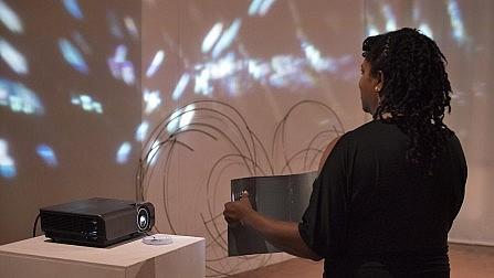 Marguerite Harris, light experimentation session, SomoS, August 2018